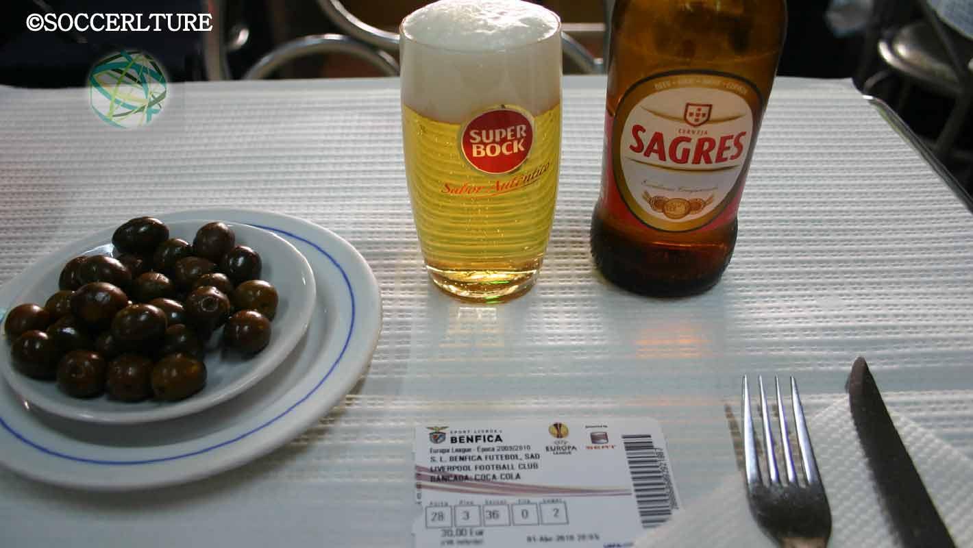 チケットとビール